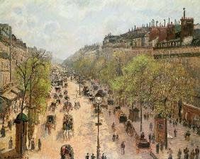 Boulevard Montmartre, Morning, Grey Day 1897