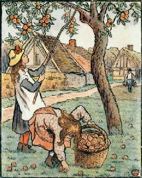 Gathering Apples, from 'Travaux des Champs' 1893