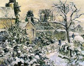 Effect of Snow with Cows at Montfoucault 1874