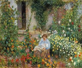 Mother and Child in the Flowers 1879