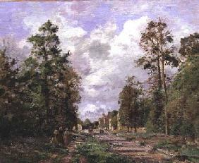 The road to Louveciennes at the edge of the wood 1871