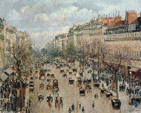 Der Boulevard Montmartre in Paris. 1893