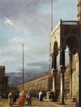 Piazza S. Marco looking West from the North End of the Piazzetta 1727