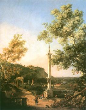 Capriccio: River Landscape with a Column 1754