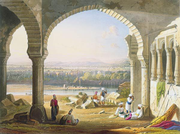 Aurungabad from the Ruins of Aurungzebe's Palace, from Volume II of 'Scenery, Costumes and Architect 1830