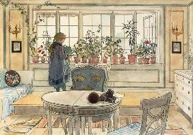 Flowers on the Windowsill, from 'A Home' series c.1895  on