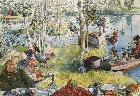 Crayfishing, from 'A Home' series c.1895  on