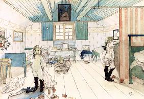 Mamma's and the Small Girl's Room, from 'A Home' series c.1895  on