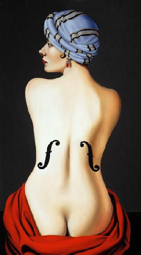 Homage to Man Ray, 2003 (oil on canvas)