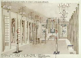 Design for a Music Room with panels by Margaret Macdonald Mackintosh (1865-1933) 1901 (colour litho)
