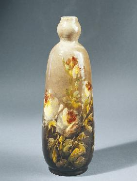 Bottle decorated with roses 1890