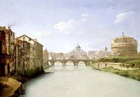 View of the Ponte and Castel Sant'Angelo in Rome
