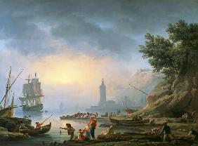 Seaport at Dawn 1751