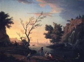 Seaport at Sunset 1751