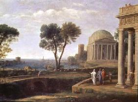 Landscape with Aeneas at Delos 1672