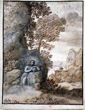 Landscape with the Magdalene 1675