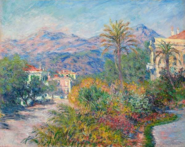 Strada Romana in Bordighera 1884