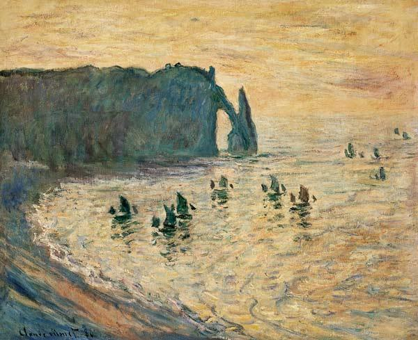 The Cliffs at Etretat 1886