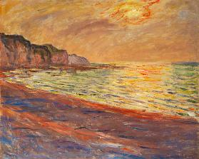 Strand in Pourville, Sonnenuntergang 1882