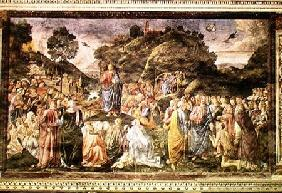 The Sermon on the Mount, from the Sistine Chapel c.1481-83