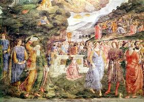 The Adoration of the Golden Calf, from the Sistine Chapel