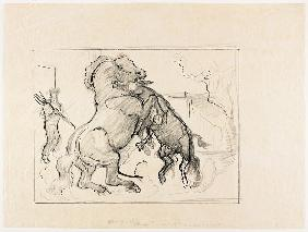 Study for Stallion and Jack Fighting 1932