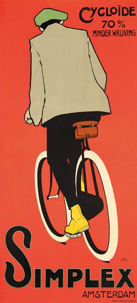 A poster advertising Simplex Amsterdam bicycles 1907