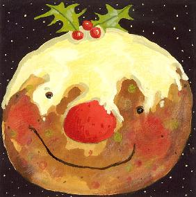 Christmas Pudding (gouache)