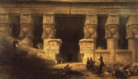 The Temple of Dendera, Upper Egypt 1841