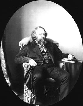 Russischer Revolutionär und Anarchist Michail Bakunin (1814-1876) 1863
