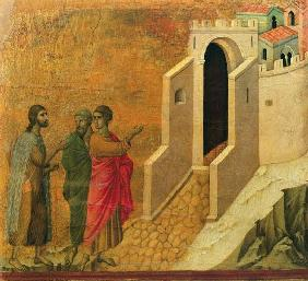 Maesta: Christ Appearing on the Road to Emmaus 1308-11