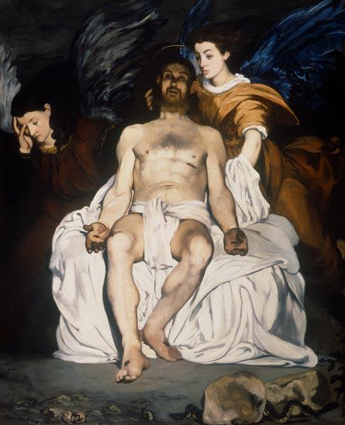 Manet / Dead Christ and Angels / 1864