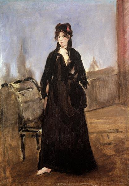 Portrait of Berthe Morisot (1841-95) in Pink Shoes 1872