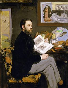 Portrait of Emile Zola (1840-1902)