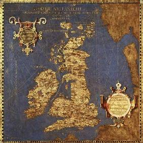 Map of the Sixteenth Century British Isles 1575