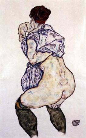 Woman Undressing 1917