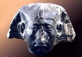 Portrait head of Sesostris III (1878-43 BC) from a sphinx c.1850 BC
