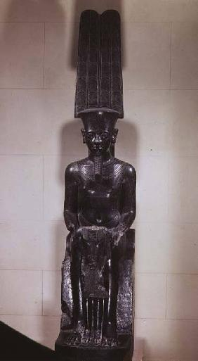 Statue of the God Amun protecting Tutankhamun, New Kingdom c.1336-132