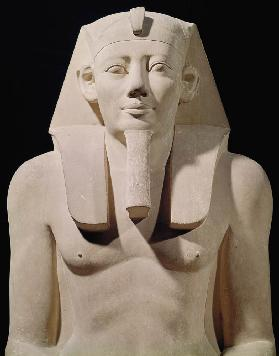 Seated statue of Sesostris I (1971-28 BC), originally from the Mortuary Temple of Sesostris I at al-