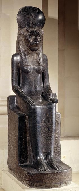 Statue of the lion-headed goddess Sekhmet, from the Temple of Mut, Karnak, New Kingdom c.1391-135