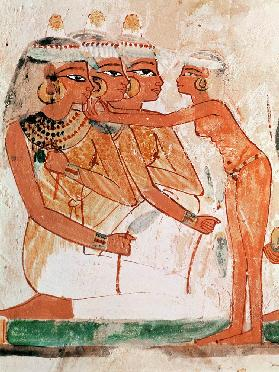 The Women's Toilet, from the Tomb of Nakht, New Kingdom c.1400 BC