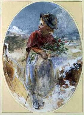 Gathering Winter Flowers 1898 colou