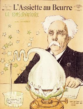 Caricature of Gabriel Faure (1845-1924) creating stars, from ''l''Assiette au Beurre'', 20th July 19
