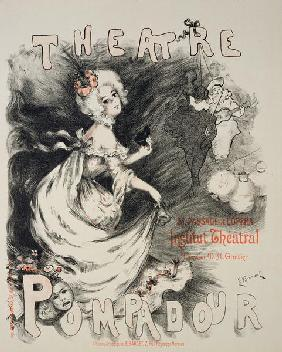Reproduction of a poster for the ''Pompadour Theatre'', Institut Theatral (colour litho)