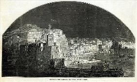 Burford''s New Panorama of Naples Moonlight, from ''The Illustrated London News'', 11th January 1845