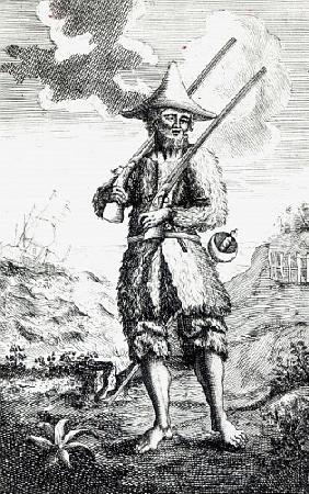 Frontispiece to ''The Life and Strange Surprizing Adventures of Robinson Crusoe of York, Mariner'' D
