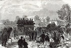 Funeral of Sergeant Brett, the Police Officer killed the Fenians at Manchester, from ''The Illustrat
