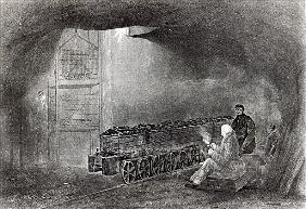 In the Coal Mine, Illustration from ''A History of Coal, Coke, Coalfields and Iron Manufacture in No