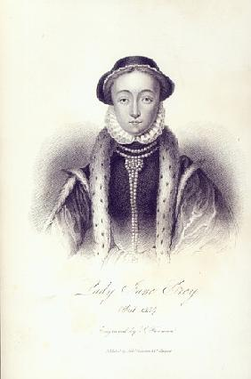 Lady Jane Grey; engraved by S. Freeman