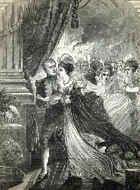 Napoleon and Marie-Louise escaping from the fire at the ball given on July 1st, 1810, the Austrian A